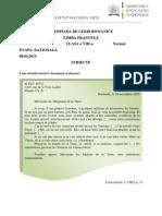 2014 Franceza Nationala Proba Scrisa Clasa a Viiia Normal Subiectebarem