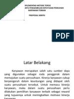 Presentasi Proposal Spk Topsis