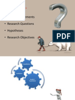 Specifying Purpose statement and research questions