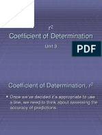 Coefficient of Determination r