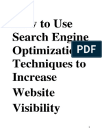 Techniques for increase website visibilty