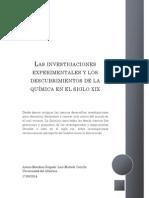 Las Investigaciones Experimentales y Los Descubrimientos de La Química en El Siglo Xix