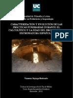 Caracterización y Evolución de Prácticas Funerarias en Extremadura Española