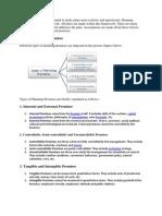 Types of Planning Premises