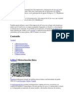 GEOLOGIA METEORIZACIONES