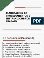 Elaboracion de procedimientos