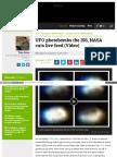Www Examiner Com Article Ufo Photobombs the Iss Nasa Cuts Li
