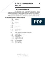 Dial-up Modem for Slc500 Operation Application Note # 6 Modem