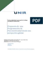 Programacion Psicomotricidad Perspectiva Global
