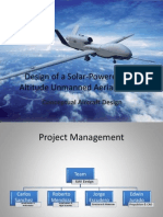 Design of a Solar-Powered Low Altitude Unmanned Aerial