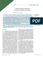 Factores de Riesgo e Infección Del Sitio Quirúrgico