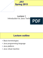 Lect2 Intro Javatechnology