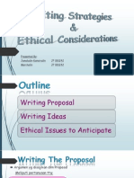Writing Strategies & Ethical Considerations