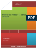 Taxonomic Studies of Genus Zygnema