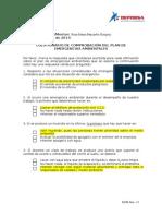 Cuestionario Comprobación Emergencias Ambientales