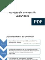 Proyecto de Intervención Comunitario ( Esquema Abreviado)