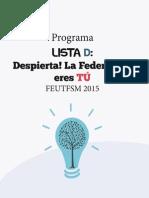 Programa Lista D FEUTFSM '15