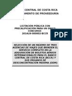 Cartel de Precalificacion 2014LN-000002-BCCR