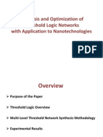 Synthesis and Optimization of Threshold Logic Networks-1