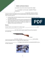 ballistics note fill in blank