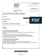 GCSE LLW Past Papers Mark Schemes Standard January Series 2013 11850