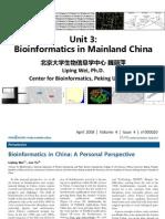 1 1 3 Bioinformatics in Mainland China