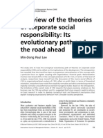 Review of the Theories of Corp-responsibility