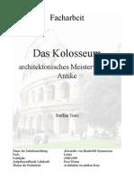 Facharbeit Architektur des Kolosseums Latein