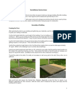 Shed Installation Instructions