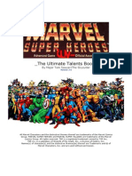 Marvel Superheroes Classic - Ultimate Talents Book - Updated v.2.0