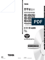 Toshiba DVD HDD RD-XS52SU manual user guide
