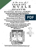 Luis Jerónimo de Oré - Rituale Seu Manuale Peruanum