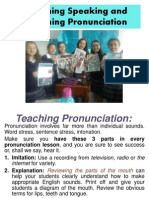 teaching speaking and pronunciation