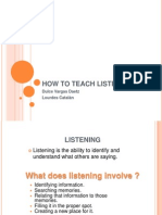 how to teach listening  vocabulary oct  25