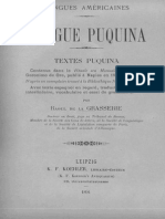 Raoul de la Grasserie - Langue Puquina.