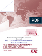The Chinese People's Liberation Army and the Information Warfare