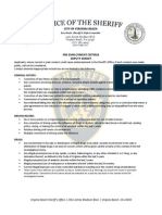 Deputies Pre Employment Criteria