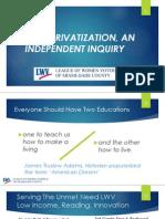 K-12 Privatization LWV 10-7 Full Presentation