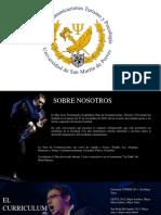 Brochure de la Tuna de Comunicaciones, Turismo y Psicología USMP