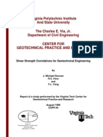 CGPR #4 - Shear Strength Correlations for Geotechnical Engineering