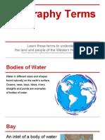 geography terms- western hemisphere