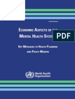 Economic Aspects of Mental Health
