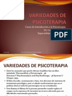 Variedades de Psicoterapia