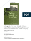 Myths and Legends of the Great Plains, By Unknown