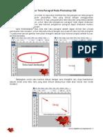 Mengatur Teks Paragraf Pada Photoshop Cs3