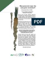 BRUXELLES 11 Dic | Evento sulle nuove colture perenni. Una nuova rivoluzione agricola?