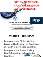 Dato' Dr. Sivamohan_Globalisation of Health Tourism
