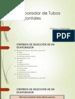 Evaporador de Tubos Horizontales