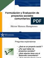 Form y Eva de Proyectos Sociales Comunitarios