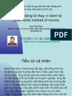 Vietnam 1.3:Sử dụng động từ thay vì danh từ (Đào tạo chỉnh sửa trong viết văn bản tiếng anh)